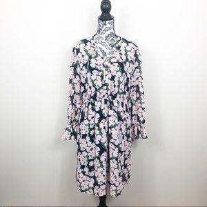 J. Crew Mercantile Floral Tie Waist Dress Size M